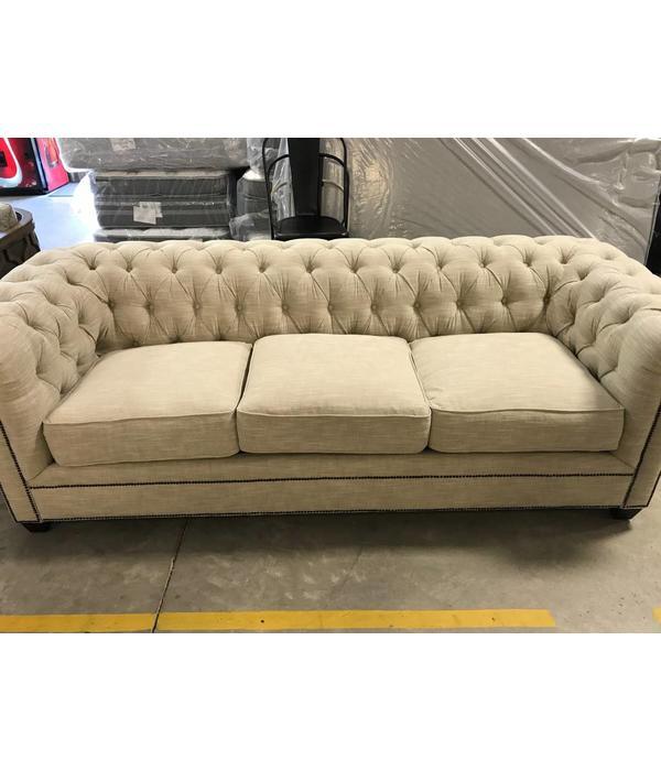 Kingston Sofa Studio Oatmeal/Cheyenne with Downblend Seating