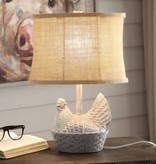 Crestview Chicken Basket Table Lamp