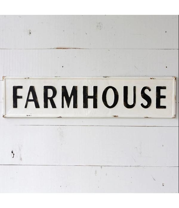 Park Hill Embossed Metal Farmhouse Sign