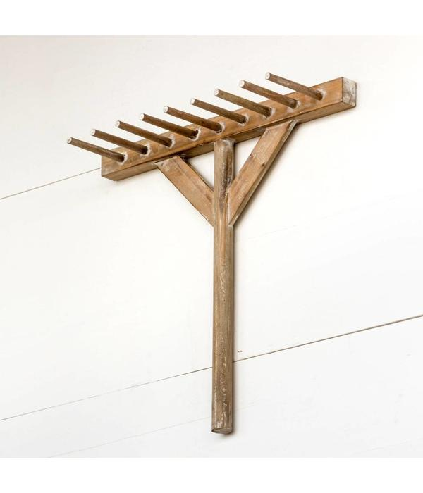 Park Hill Wooden Rake Display