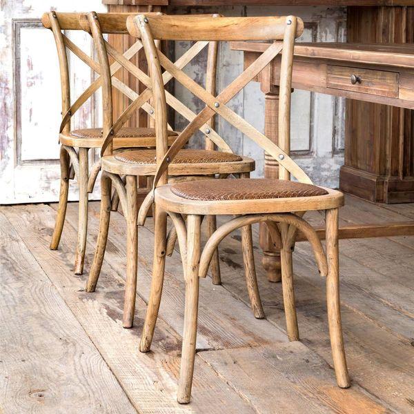 Wooden Cross Back Chair NB051