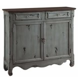 Crestview Greystone 2 Door 2 Drawer Cupboard
