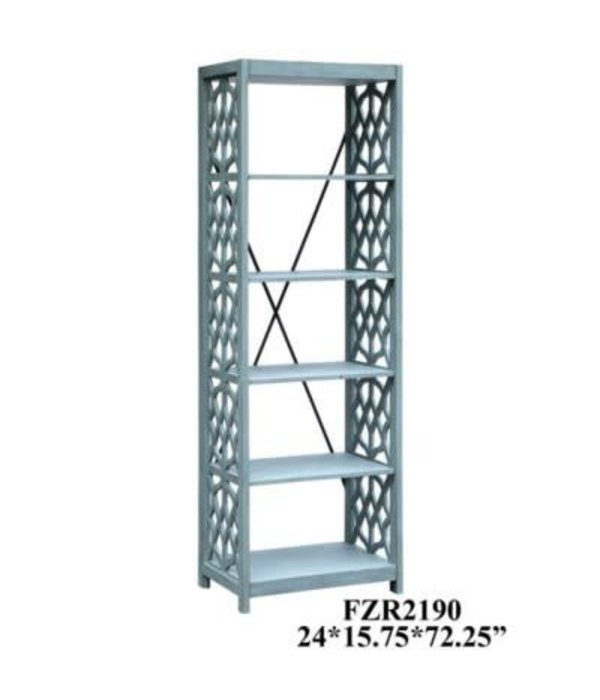 Crestview Glen Abbey Textured Stone Grey Etagere