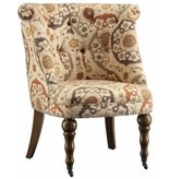 Crestview Hutchison Pattern Fabric Chair