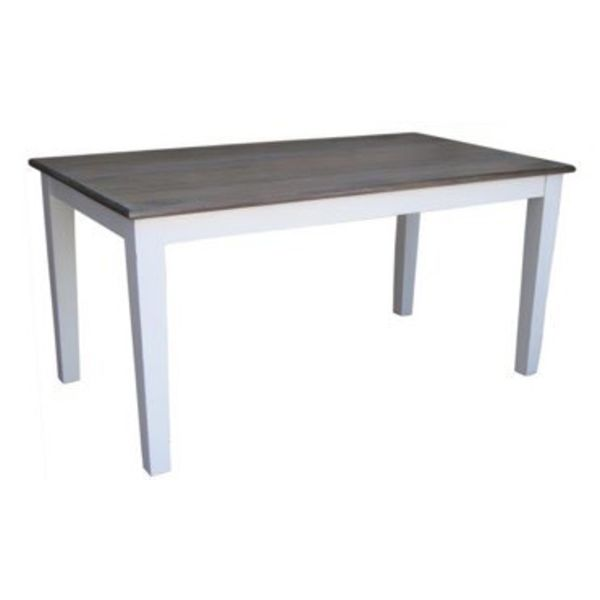 """Pranjo Dining Table 71""""L Salvage and Distressed White"""
