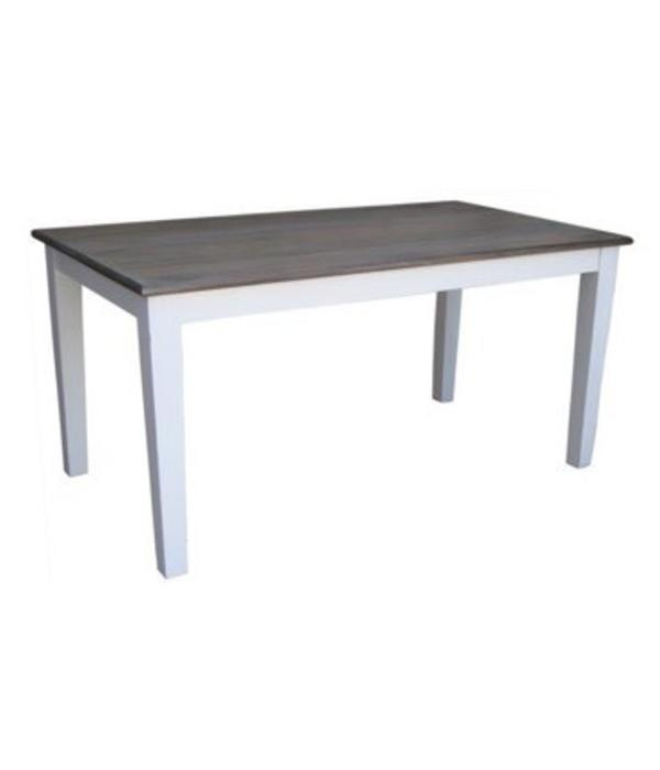 """Pink City Industries Pranjo Dining Table 71""""L Salvage and Distressed White"""
