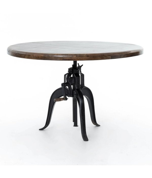 Four Hands Rockwell Adjustable Round Dining Table 48""
