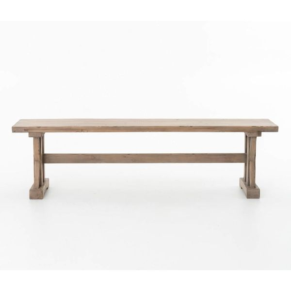 Four Hands Tuscan Spring Dining Bench Sundried Wheat VTUD-06-10