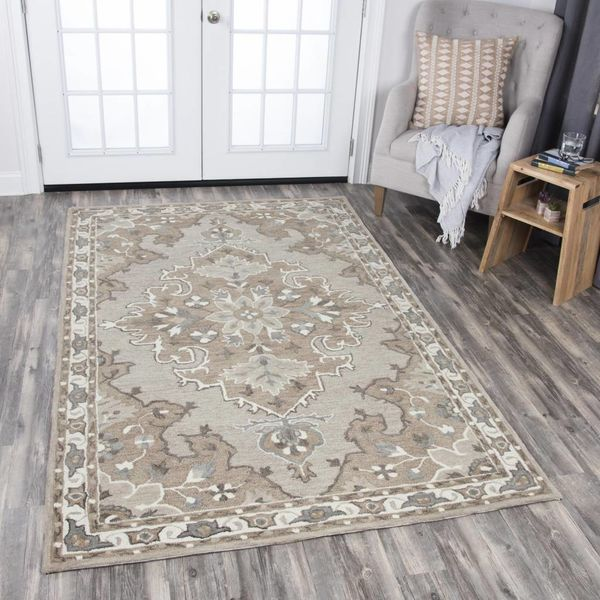 Rizzy Rug Resonant RS931-A 8x10 Tan Dark/Tan