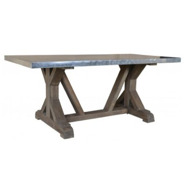 Rail Road Dining Table 6' Light French Gray