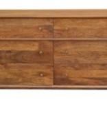 Pink City Industries Mid Century 6 Drawer Dresser Mango Strip Pine