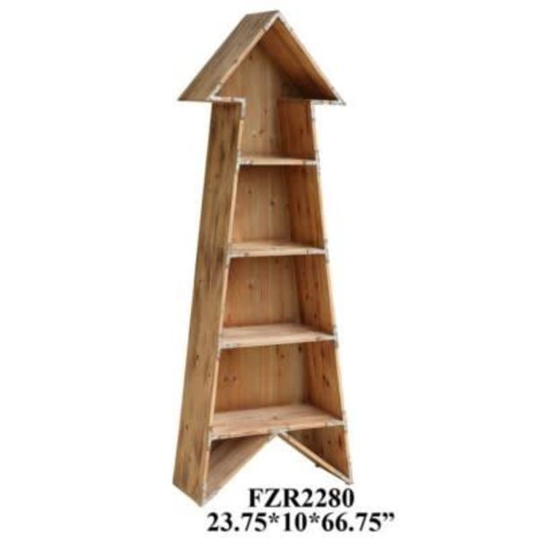 Chickasaw Rustic Wood Arrow Bookshelf CVFZR2280