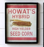 Park Hill Framed Feedsack Howast's Hybrid Corn IM6520