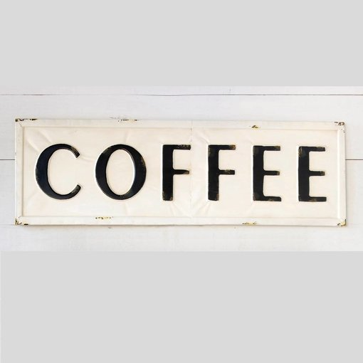 Park Hill Embossed Metal Coffee Sign FH6090