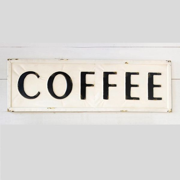 Embossed Metal Coffee Sign FH6090