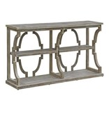 Crestview Stockton Open Chestnut Wash 3 Tier Console CVFZR3525
