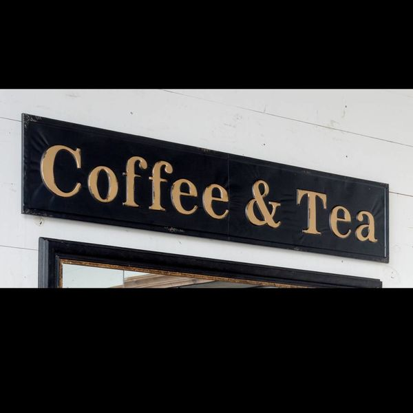 Embossed Coffee and Tea Sign FH6102
