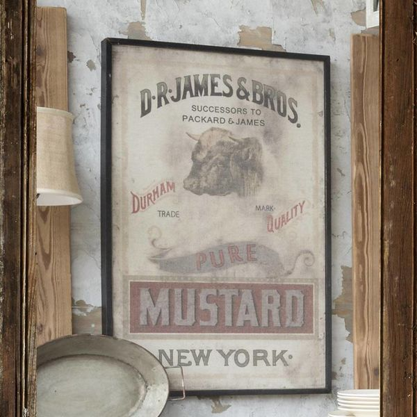 Framed Mustard Print on Canvas IM1017