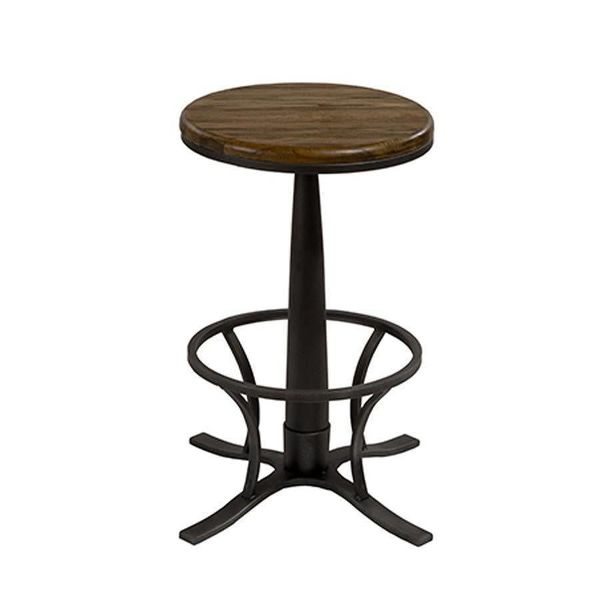 Rivage Metal Backless Single Pedestal Swivel Counter Height Stool