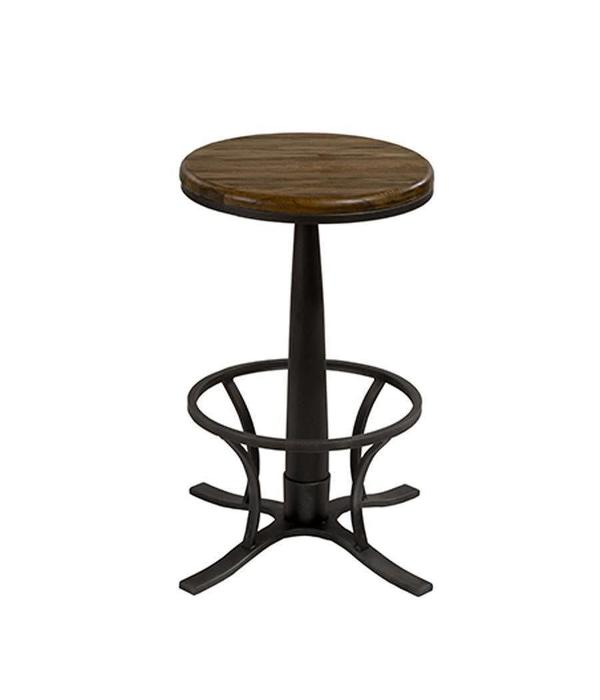 Hillsdale Furniture Rivage Metal Backless Single Pedestal Swivel Counter Height Stool