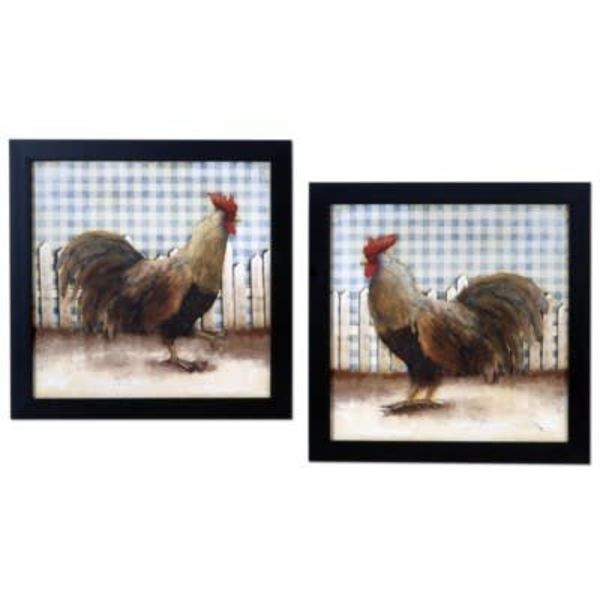 Framed Rooster Print CVA3730