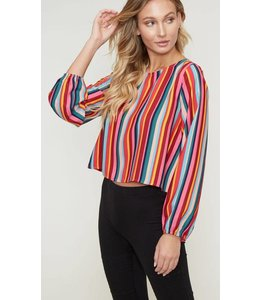 PLC Striped Scoop Top 32447