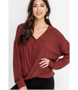 LSH Twist Tie Front Sweater 14298