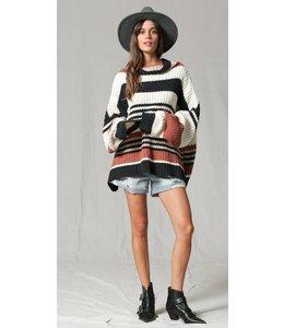 BT Striped Turtle Neck Sweater 2621