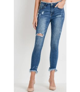Shoe Shi Frayed Medium Denim 436