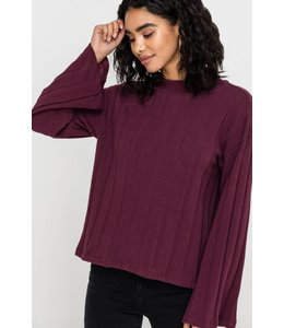 LSH Rib Knit Mock Neck Sweater 14435