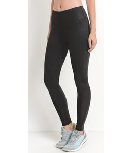 Shoe Shi Mesh Panel Leggings 1521