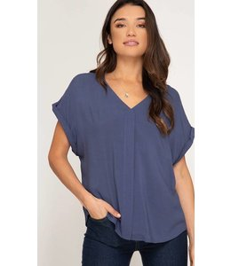 She&Sky Short Sleeve Back Strap Top 8154