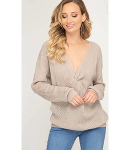 SS Front Twist Sweater 7479