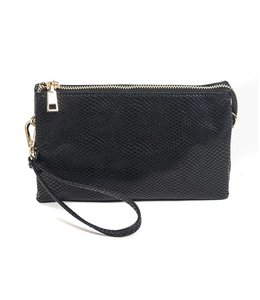 Shoe Shi Snake Compartment Wristlet 013