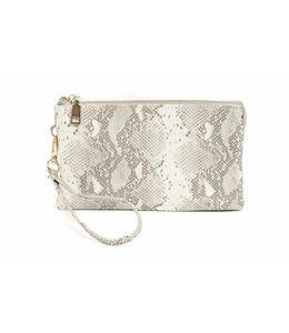 Shoe Shi Python Compartment Wristlet 013