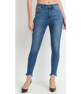JP High Rise Frayed Hem Jeans 954