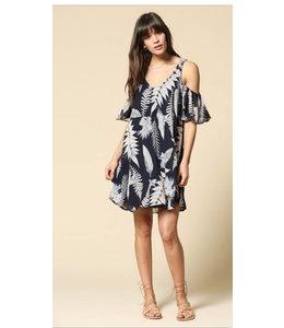 BT Stems and Leaf Cold Shoulder Dress 687