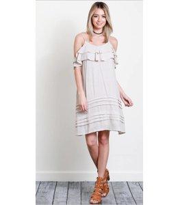 WL Ruffle Spagetti Stap Dress 3076