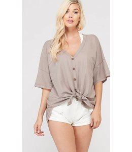 WL Front Knot Button Down 1026