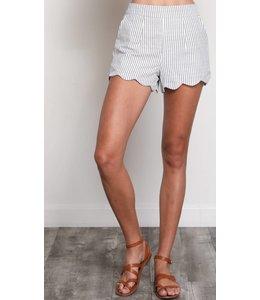 WSH Striped Scalloped Shorts 9076