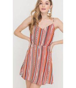 LSH Tie Back Skinny Strap Dress 42765