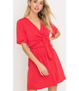 LSH Tie Front Flowy Dress 95782