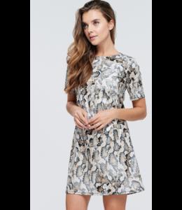 LN Round Neck Animal Dress 11276