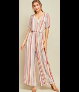 ETO Rainbow Stripe Jumpsuit 11545