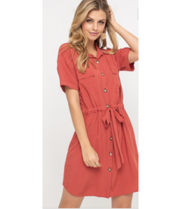 LH Button Down Collar Dress 95774