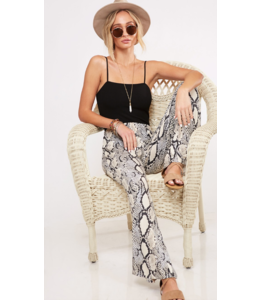 PLC Stretchy Flare Snake Pants 73139