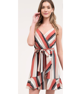 bp Ruffle Stripe Dress 1052