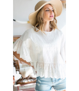 MS Emboidered Ruffle Top 30697