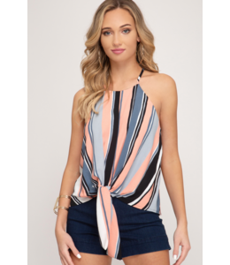 SS Cami Top With Front Tie 9763