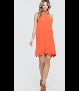 pm Scalloped Hemline Dress 10504